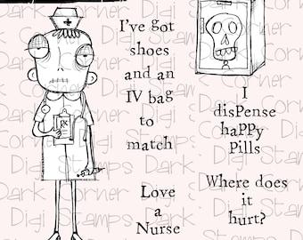 Nurse Dee - 7 digi stamp set