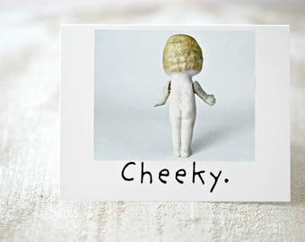 "Claudia Adventures Doll Blank Card ""Cheeky"" Naked Bisque Doll Stationary (1)"