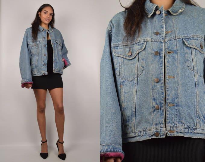 Vintage Benetton Blue Jean Jacket Lined