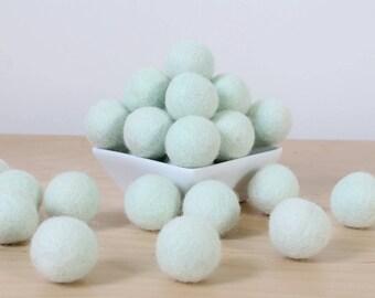 Felt Balls: SEAFOAM, Felted Balls, DIY Garland Kit, Wool Felt Balls, Felt Pom Pom, Handmade Felt Balls, Blue Felt Balls, Blue Pom Poms