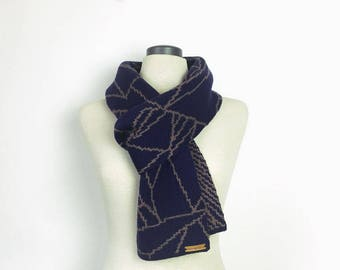 Winter scarf, gift for him, Christmas gift, knitted scarf, warm scar, wool scarf, physics, maths, geology, biology, Australian made