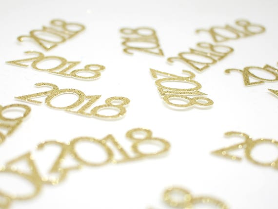 2018 Confetti - New Years Confetti. Graduation Party Decor. New Years Eve Decor. Happy New Year. Grad 2018. Graduation 2018. Senior 2018.