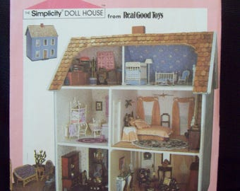 Doll House Interior Design Pattern Simplicity Crafts 9396 Simplicity Doll House UNUSED