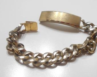 """Vintage Speidel I.D. Bracelet (7258) Engraved """"PPT"""""""