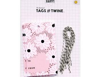 Daisy Day Blush Gift Tag Set