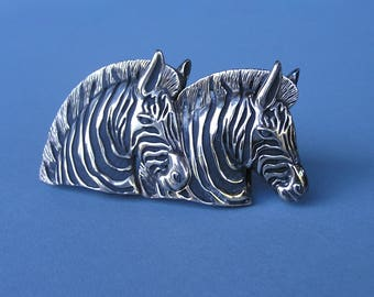 Vintage Zebra Belt Buckle . Wild Animals Belt Buckle