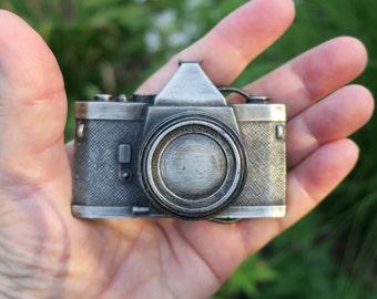 Vintage Bergamot Brass Works Camera Belt Buckle