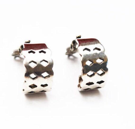 Sterling hoop earrings - silver hoop  -  Clip on earrings