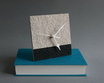 1st Anniversary Gift for Couple, Recycled Paper Clock