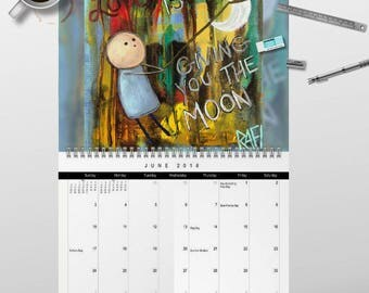 2018 Love Is... Wall Art Calendar by artist Rafi Perez - Signed By The Artist