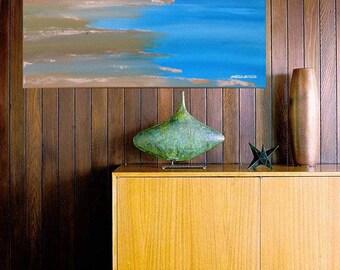 "ORiGiNAL 20 x 16 Landscape ABSTRACT   -""Ocean Beach""  original Acrylic Paint on canvas   -   20"" X 16""   (# 17-1160)"