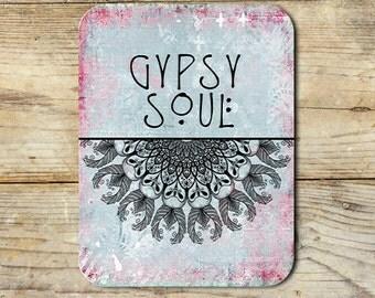 Gypsy Soul Mandala Neoprene Mouse Pad Novelty Boho Gifts Home Office Decor