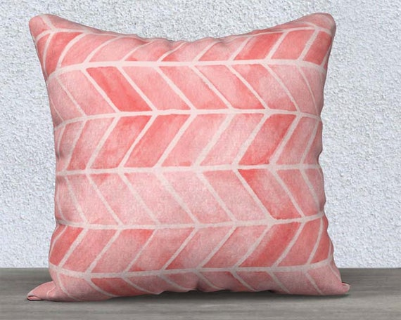 "Blush Arrow Print Pillow Cover, 14""x20"", 18""x18"""