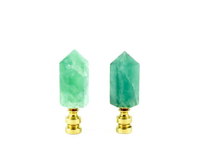 Green Fluorite Finial