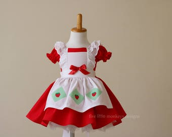 Strawberry Shortcake Dress - Strawberry Shortcake Costume - Strawberry Shortcake - Strawberry Dress - Red Dress - Costume