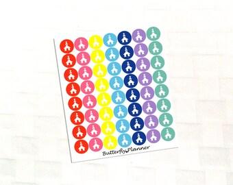 Church Multicolor Icon Stickers