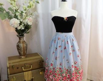 1950's Novelty border print skirt