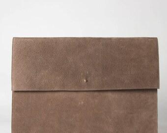SALE Laptop sleeve brown nubuck leather