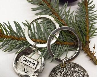 Dog Keychain - Dog Nose Print - Dog nose Key ring - Puppy Print - Sterling Silver Necklace - Pet Lover Keyring - Pet Lover - Pet Keepsake