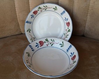 "Provincial Design Nikko ""Avondale"" Pattern Berry Dishes, Set of 2.  Vintage dinnerware."