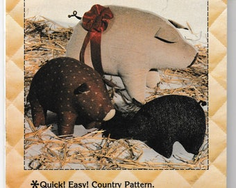 Country Fair Pigs Pattern and Instructions - Country Decor - Bazaar Item