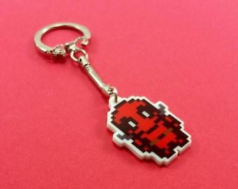 Deadpool Keychain - Comic Keychain - Nerdy Keychain - Deadpool Birthday Gift - Deadpool Party Favor - Deadpool Wedding