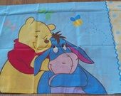 Vintage WINNIE The POOH Disney Crib Fitted Sheet & Pillowcase Set NEW~Honey Pot