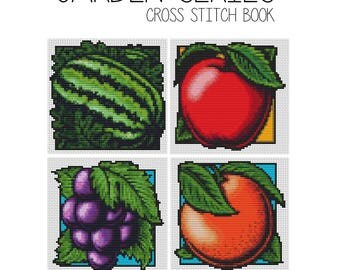 Cross Stitch Pattern PRINTED Set Garden Series, Fruits Cross Stitch (BOOK04)