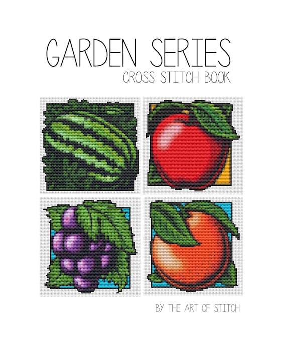 Cross Stitch Pattern PRINTED Set Garden Series - Fruits Cross Stitch (BOOK04)