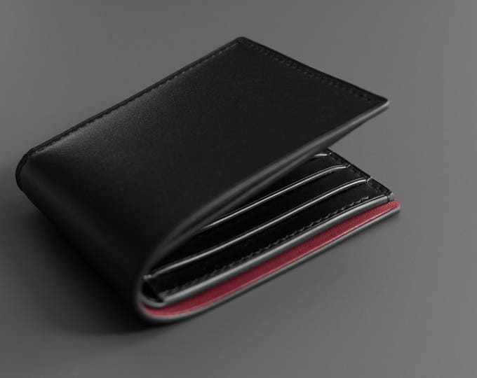 Hand-stitched Billfold Leather Wallet