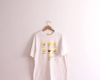Original Emoji Faces 90s T Shirt