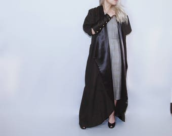 Long robe dress jacket victorian accent cuffs gothic steam punk