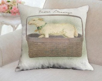 Easter Blessings Designer Pillow