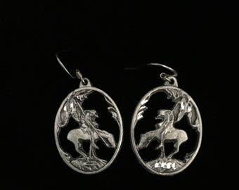 "Vintage 1996 54L Siskiyou ""Brave Indian/Warrior"" Earrings   (Tier 2)"