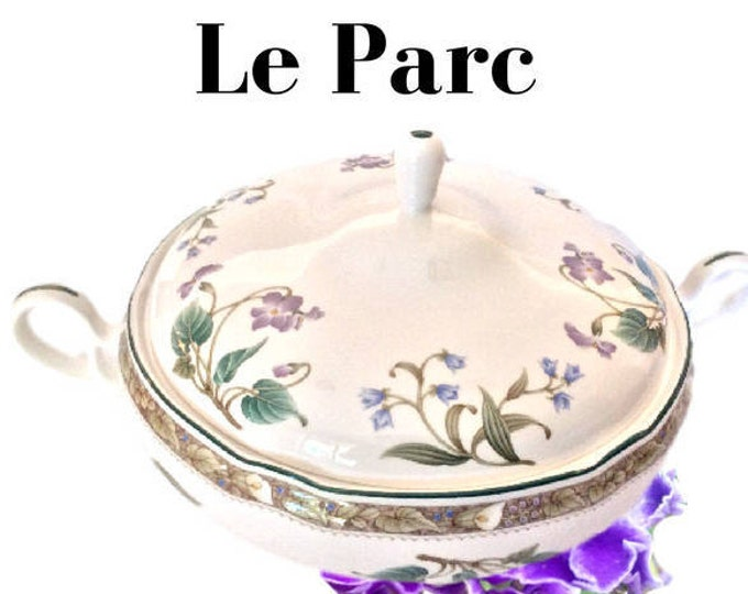Noritake China, Le Parc, Dinnerware, Round Covered Vegetable Bowl, Primachina Dish, Pattern 9421, Discontinued, Replacement China