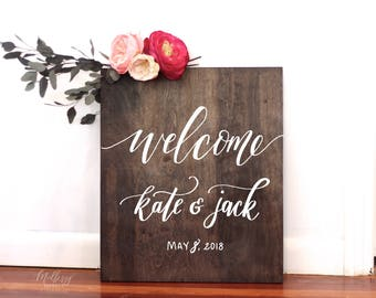 Custom Wedding Welcome Sign, Rustic Wedding Signs, Welcome Signs, Bridal Shower Sign, Baby Shower Sign