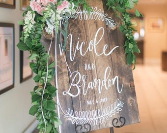Personalized Wedding Welcome Sign, Wooden Wedding Sign, Rustic Wedding Sign, Ceremony Decor, Farmhouse Home Decor