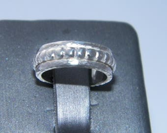 Handcrafted.925 Sterling Silver One Band Spinner Ring -Halfbead Spinner Design-Custom Size