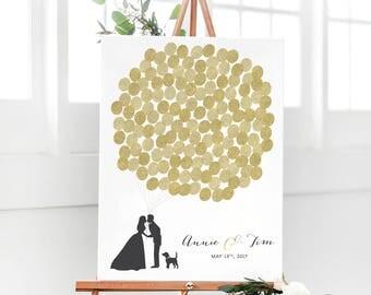 Gold Wedding Guest Book - Gold Guest Book Idea - Guest Book Alternative - Gold Guest Sign in for Wedding - Unique Guest Book