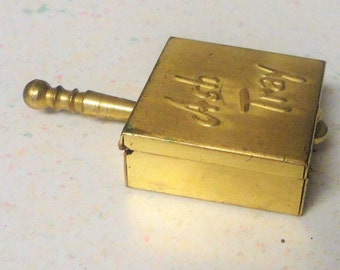 Brass Silent Butler Lady's Personal Ashtray Purse Accessory Vintage Collectible Tobacciana 1960