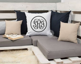 monogram pillow case monogram throw pillow cover decorative pillow custom name pillow initial pillow personalized pillow farmhouse decor