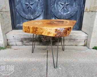 Live Edge Coffee Table  Reclaimed Wooden Table  Log Table  Furniture  Tree  Slice