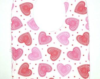Toddler Bib - Hearts