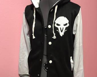 Reaper Overwatch Inspired Varsity Hoodie Jacket