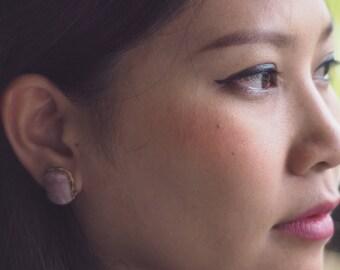 SALE EARRINGS/Rose Quartz Earrings/Wire Wrapped Earrings/Rose Quartz Stud Earrings/Wire Wrapped Jewelry/Bridesmaid earrings/Gift for her