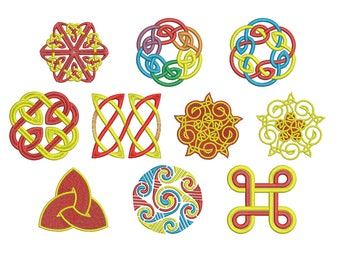 Machine Embroidery Design Instant Download - Celtic Knotwork Collection 4