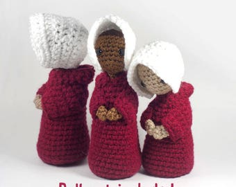 The Handmaid's Tale Amigurumi Crochet Doll Pattern