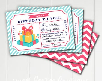 Printable birthday coupons for wife