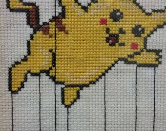 Balloon Pikachu Cross Stitch Pattern