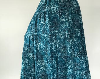 SK0007 Handmade Maxi Skirt for Beach Summer ,One size fit all